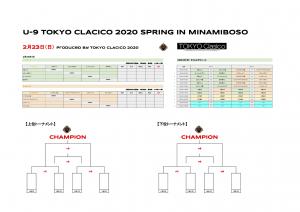 2_23(日) U-9 東京クラシコ 2020 SPRING 組合せ