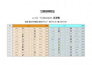U-12 TOBIGERI 交流戦結果(8:29)