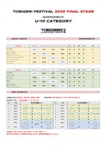 【U-10 1228結果】TOBIGERI FESTIVAL 2020 FINAL STAGE