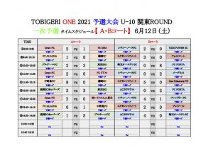 【初日結果_最終日スケジュール】TOBIGERI ONE 2021 予選大会 関東ROUND(ドラッグされました) 2