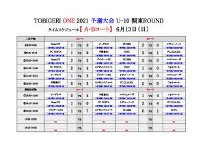 【最終結果】U-10 TOBIGERI ONE 2021 予選大会 関東ROUND(ドラッグされました) 7