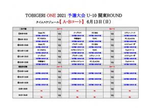 【初日結果_最終日スケジュール】TOBIGERI ONE 2021 予選大会 関東ROUND(ドラッグされました) 6