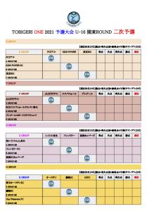 【初日結果_最終日スケジュール】TOBIGERI ONE 2021 予選大会 関東ROUND(ドラッグされました) 5